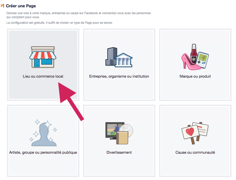 création page facebook et pas de profil